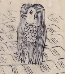 江戸時代のアマビエのイラストです。