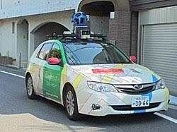 グーグルビュー撮影自動車の写真