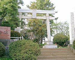 松戸風早神社の鳥居の画像